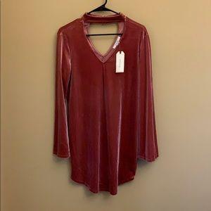 NWT Adam Levine velvet dress